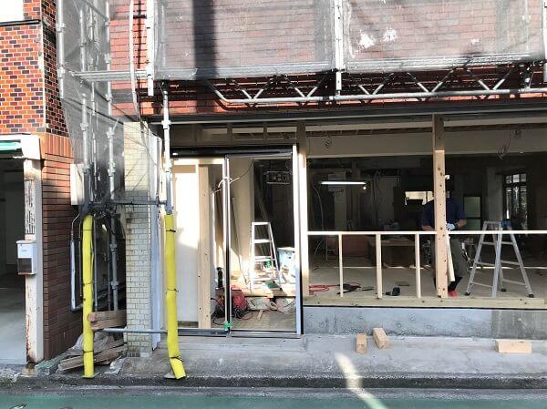 伊東市 鉄筋コンクリート造 リフォーム 玄関 施工中