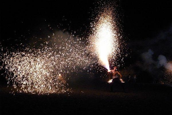 伊東箸まつり 手筒花火